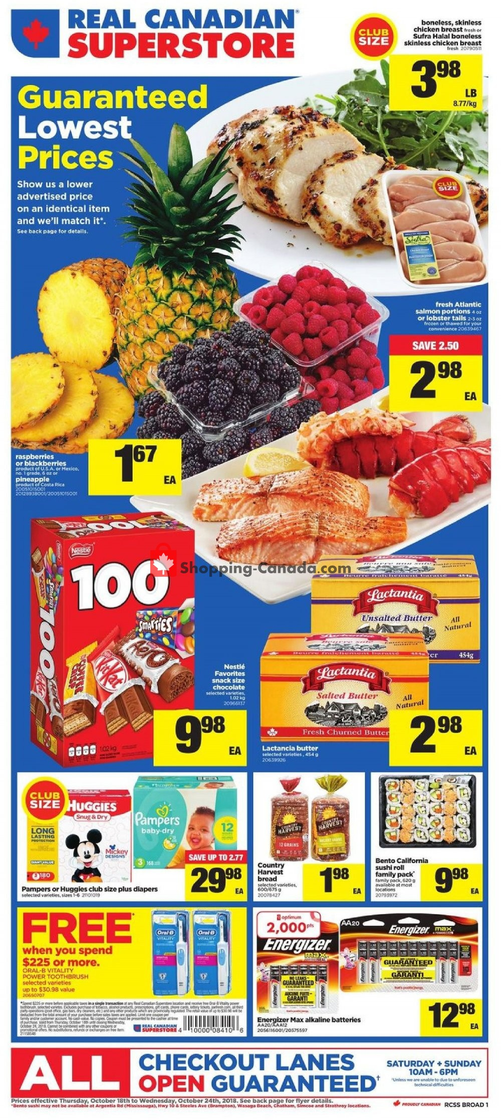 Flyer Real Canadian Superstore Canada - from Thursday October 18, 2018 to Wednesday October 24, 2018