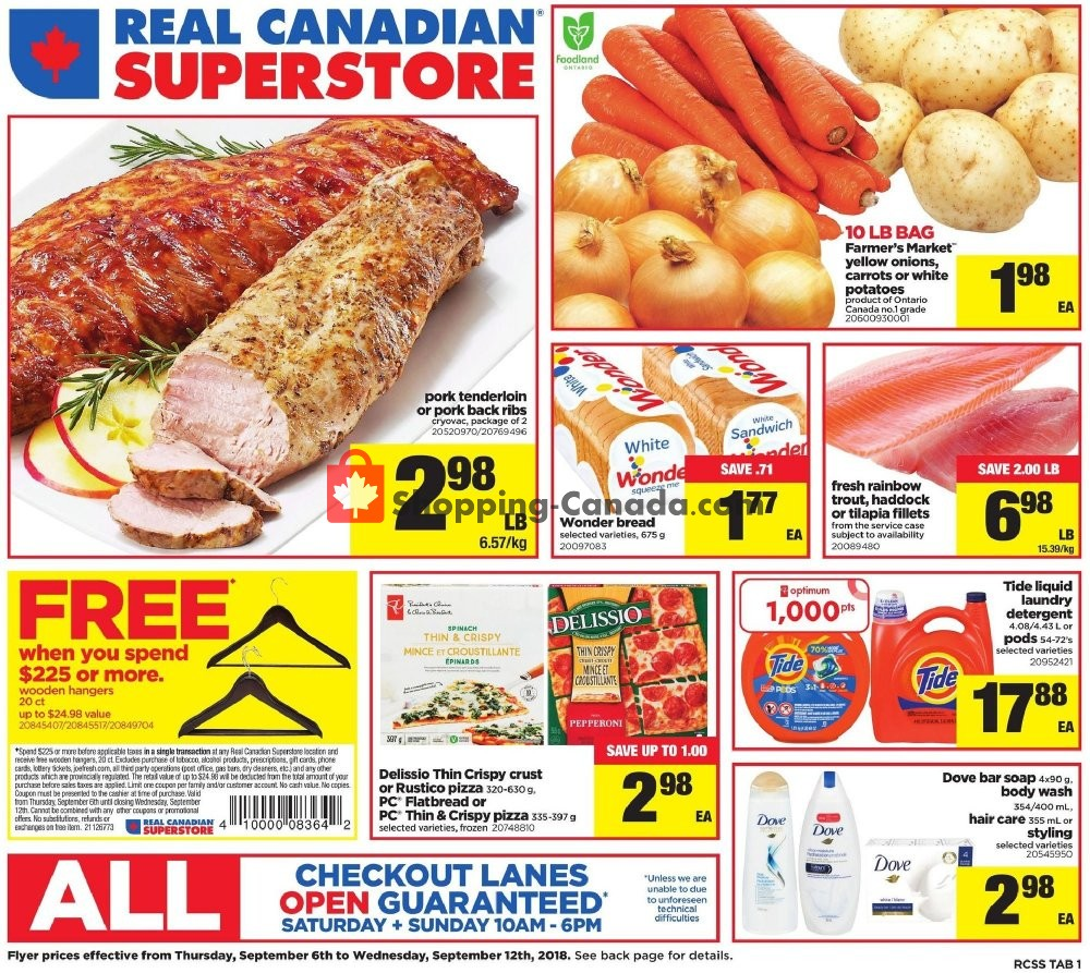 Flyer Real Canadian Superstore Canada - from Thursday September 6, 2018 to Wednesday September 12, 2018