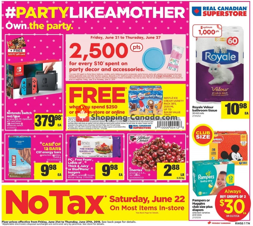 Flyer Real Canadian Superstore Canada - from Friday June 21, 2019 to Thursday June 27, 2019