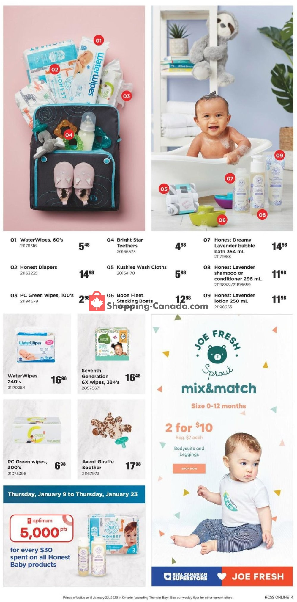 Flyer Real Canadian Superstore Canada - from Thursday January 9, 2020 to Wednesday January 22, 2020