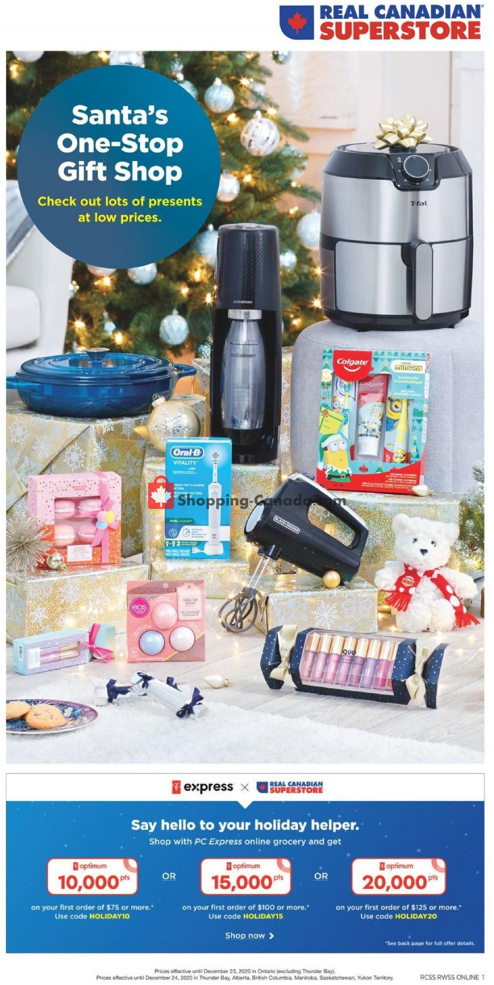 Flyer Real Canadian Superstore Canada - from Thursday December 10, 2020 to Thursday December 24, 2020