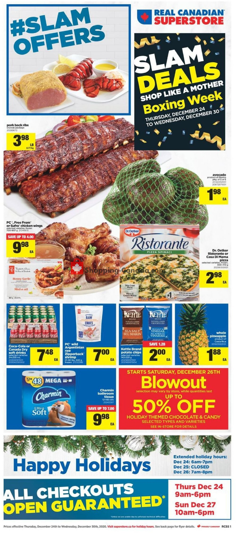 Flyer Real Canadian Superstore Canada - from Thursday December 24, 2020 to Wednesday December 30, 2020