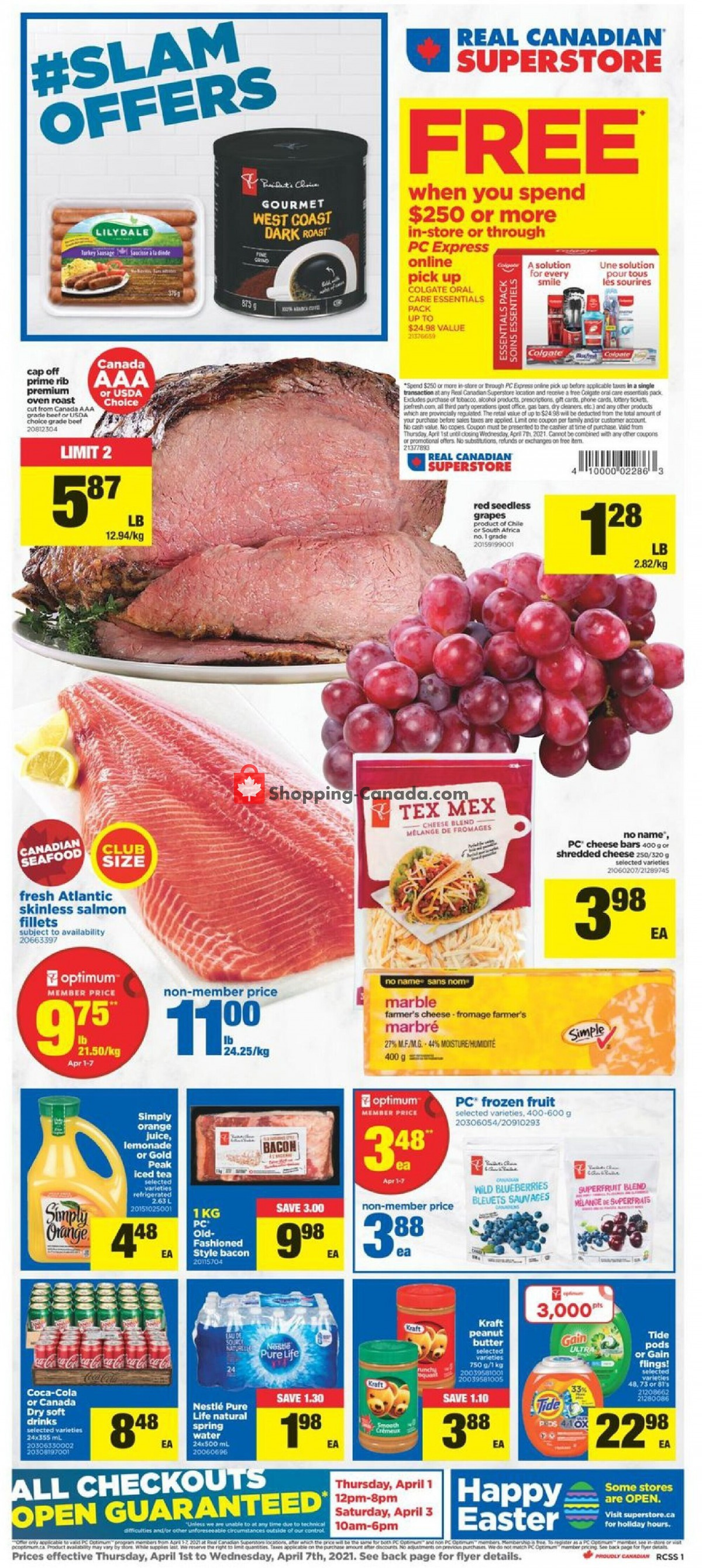 Flyer Real Canadian Superstore Canada - from Thursday April 1, 2021 to Wednesday April 7, 2021