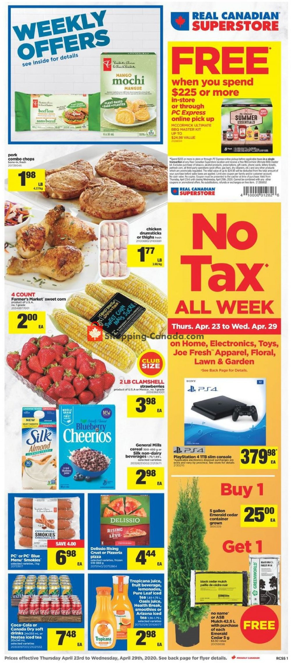 Flyer Real Canadian Superstore Canada - from Thursday April 23, 2020 to Wednesday April 29, 2020