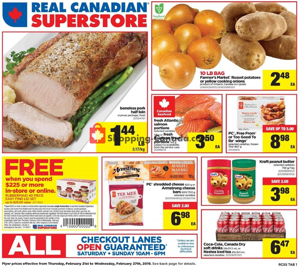 Flyer Real Canadian Superstore Canada - from Thursday February 21, 2019 to Wednesday February 27, 2019