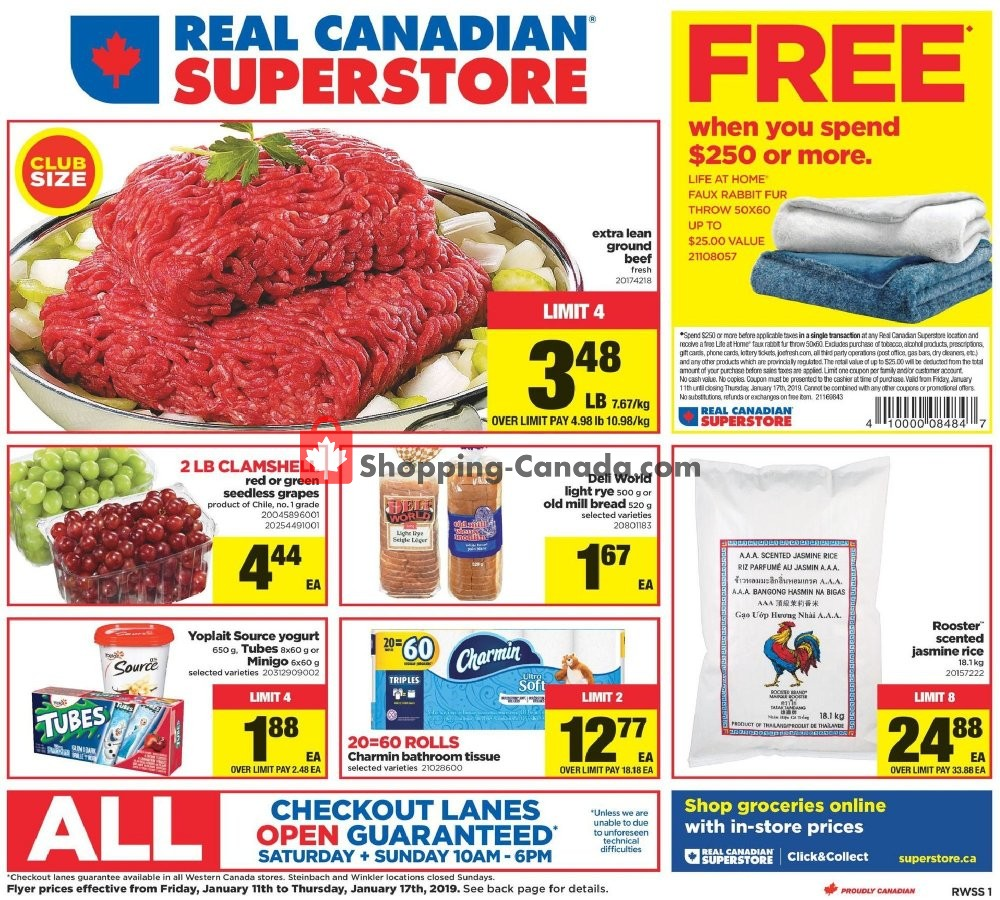 Flyer Real Canadian Superstore Canada - from Friday January 11, 2019 to Thursday January 17, 2019