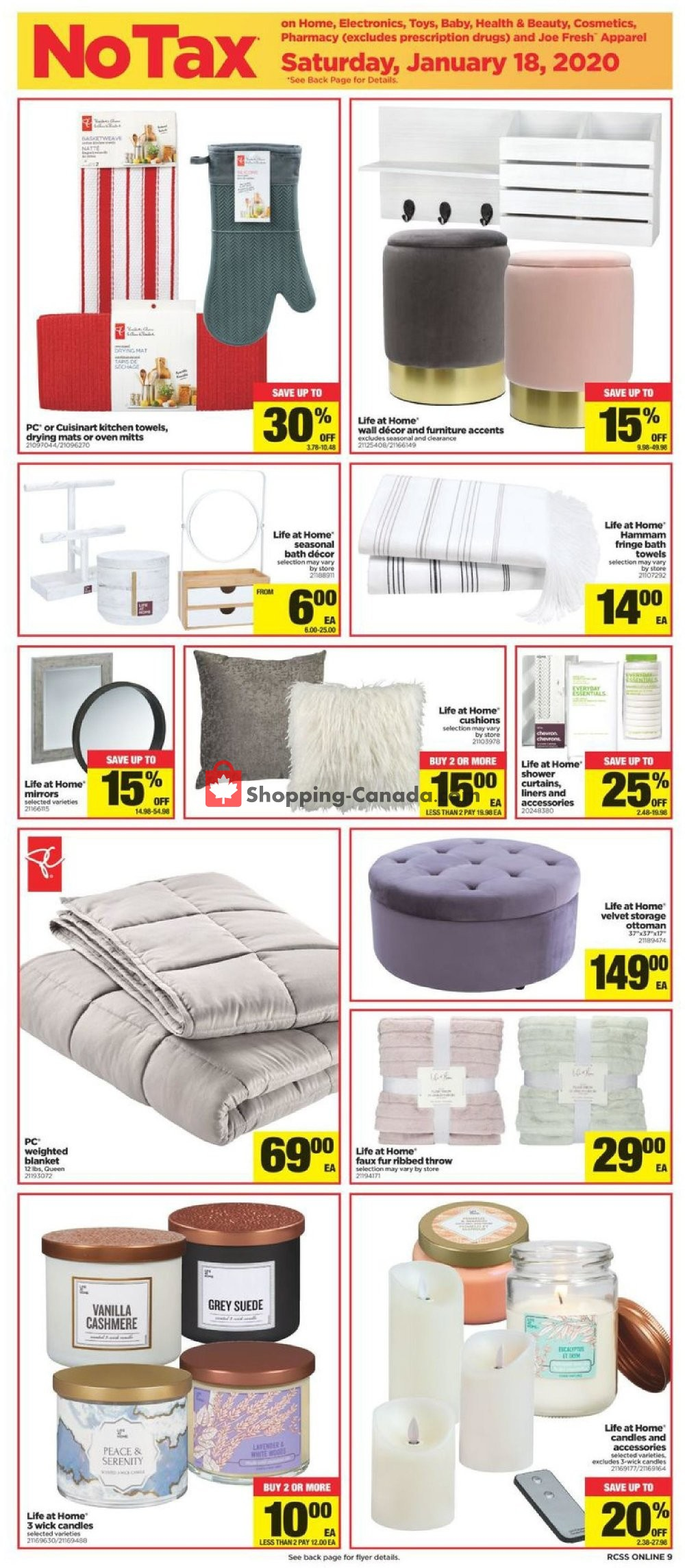 Flyer Real Canadian Superstore Canada - from Thursday January 16, 2020 to Wednesday January 22, 2020