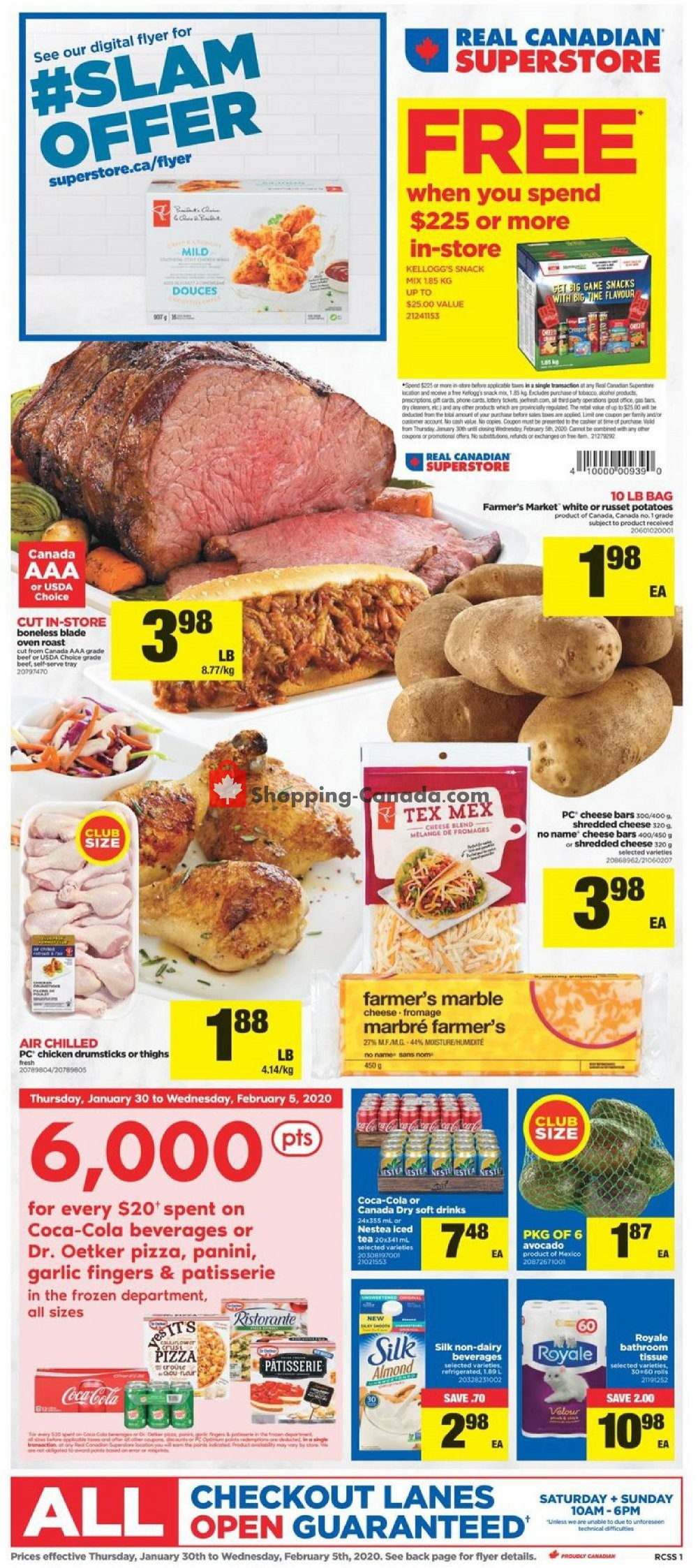 Flyer Real Canadian Superstore Canada - from Thursday January 30, 2020 to Wednesday February 5, 2020