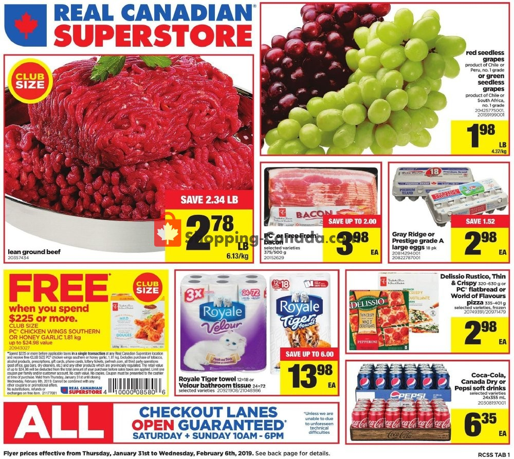 Flyer Real Canadian Superstore Canada - from Thursday January 31, 2019 to Wednesday February 6, 2019