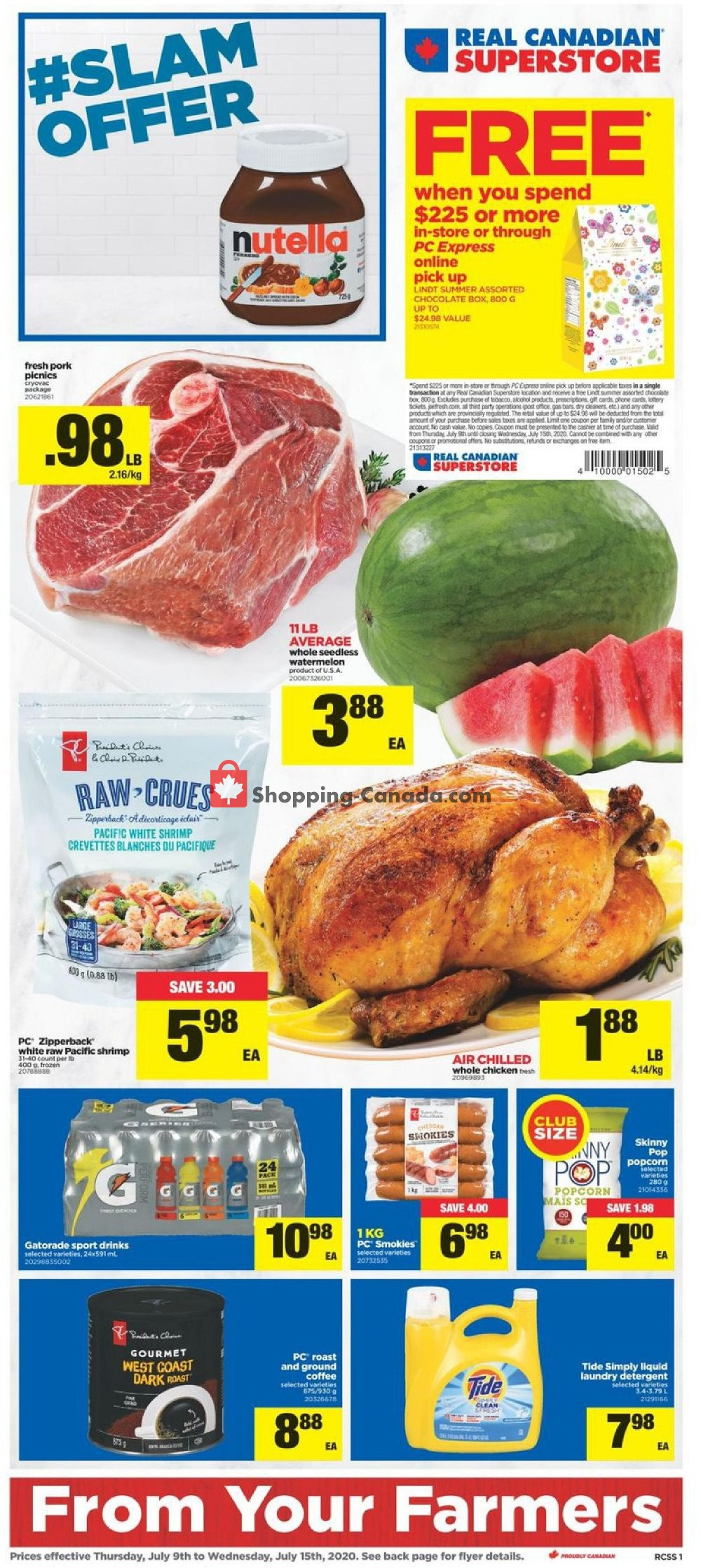 Flyer Real Canadian Superstore Canada - from Thursday July 9, 2020 to Wednesday July 15, 2020