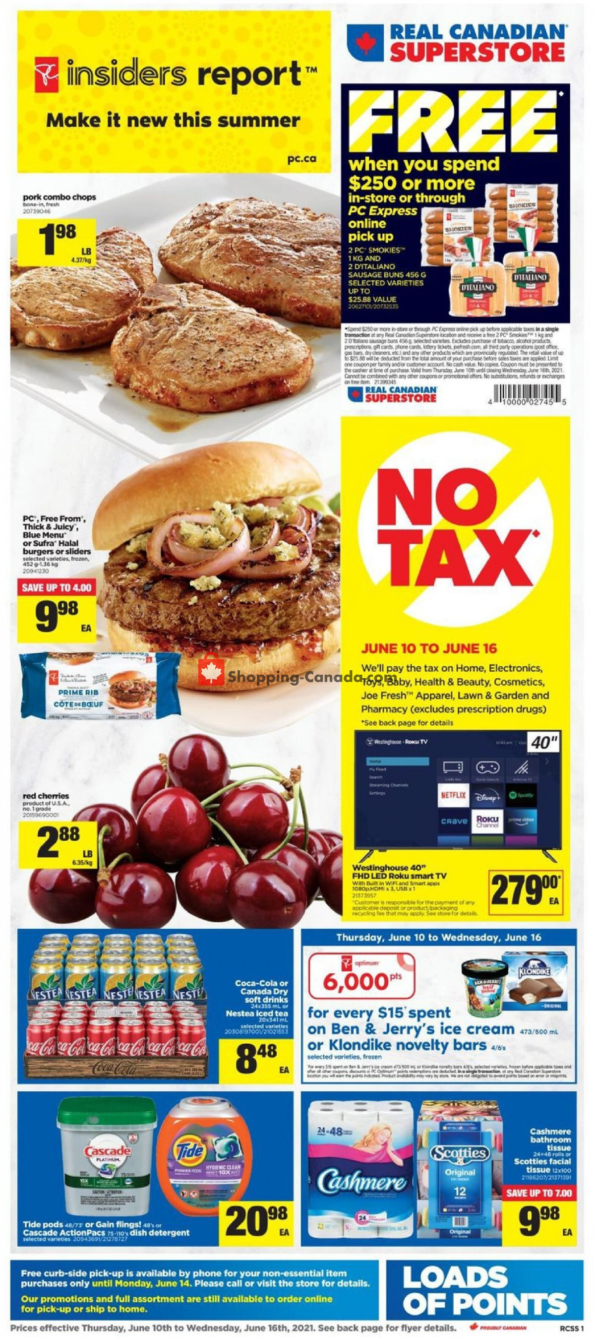 Flyer Real Canadian Superstore Canada - from Thursday June 10, 2021 to Wednesday June 16, 2021