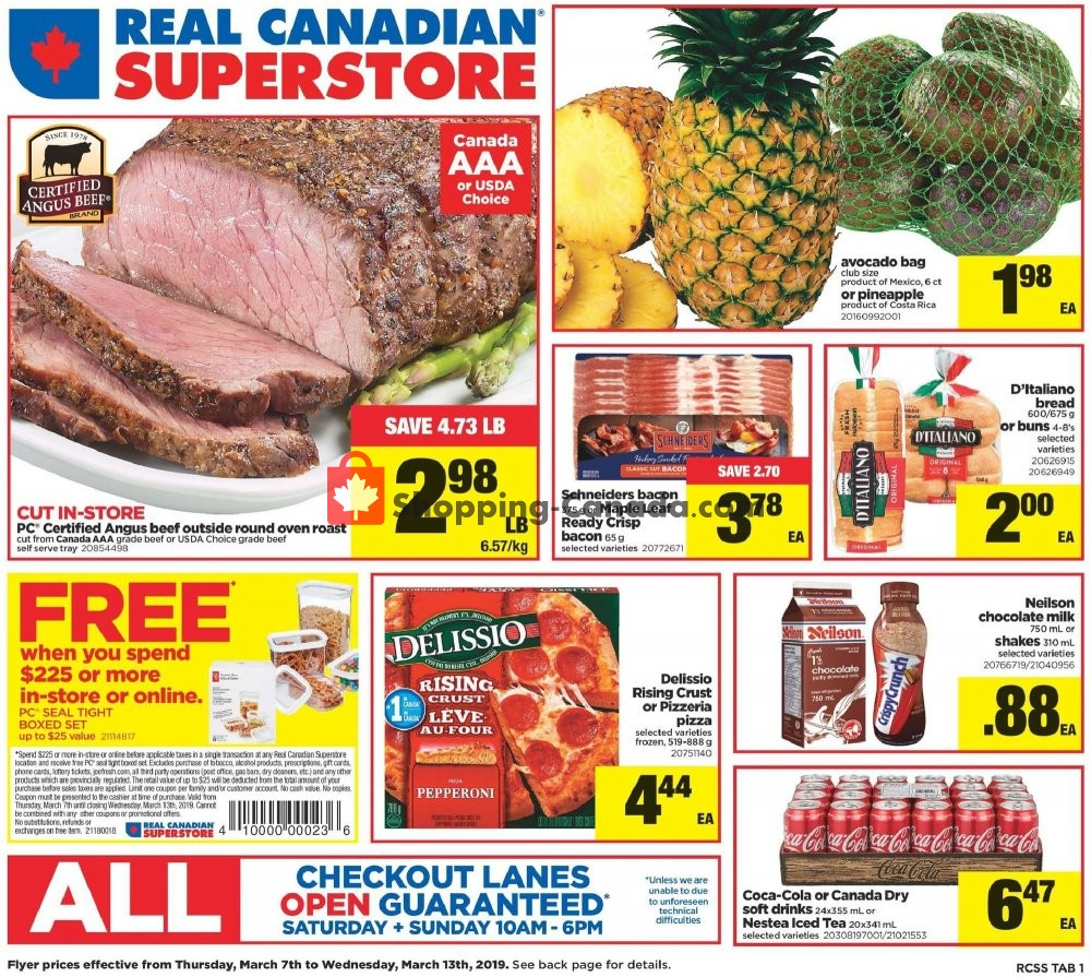 Flyer Real Canadian Superstore Canada - from Thursday March 7, 2019 to Wednesday March 13, 2019