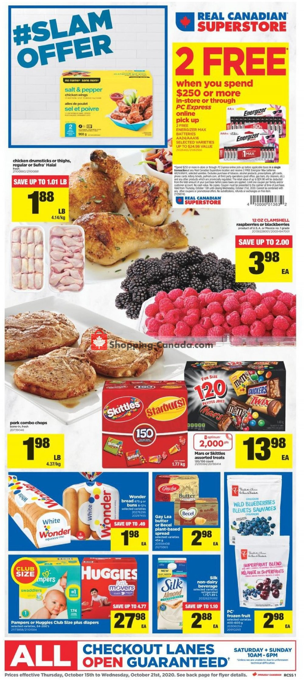 Flyer Real Canadian Superstore Canada - from Thursday October 15, 2020 to Wednesday October 21, 2020