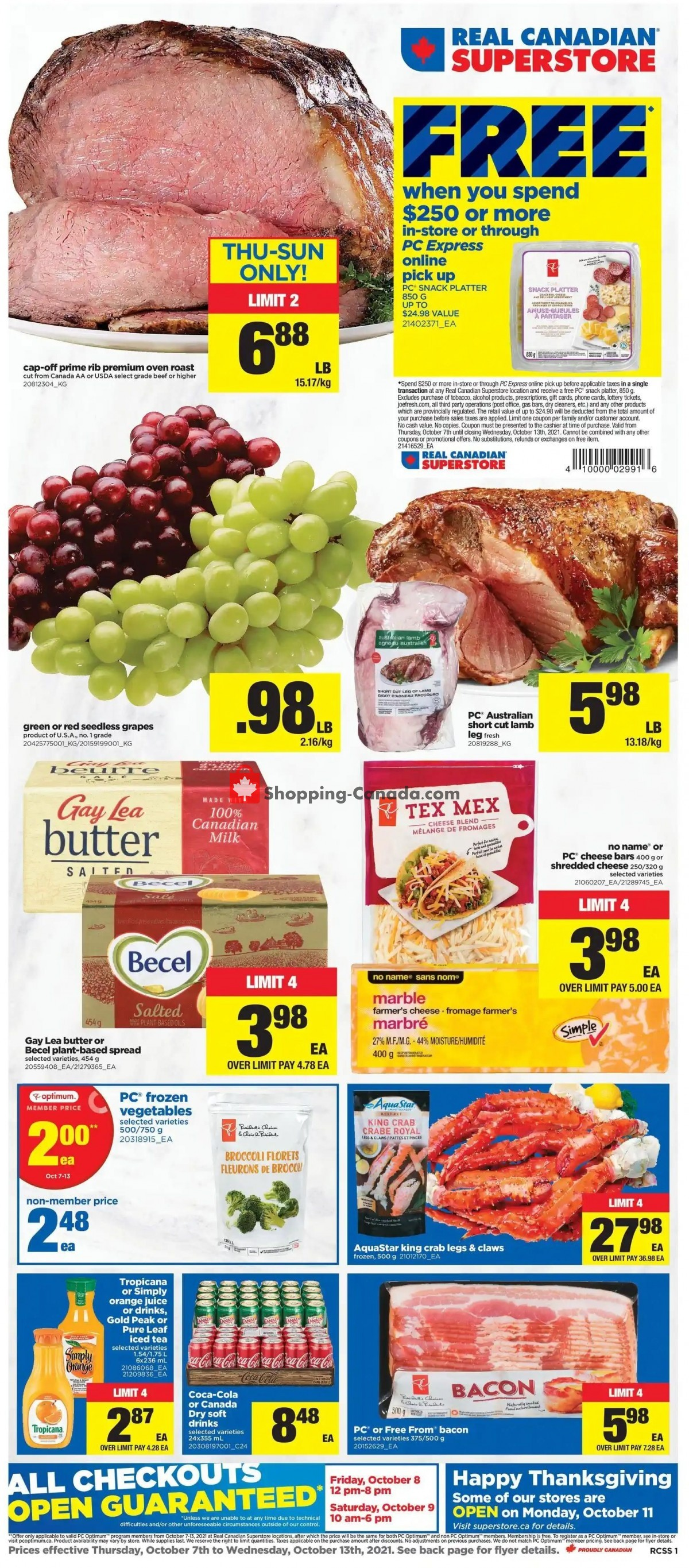 Flyer Real Canadian Superstore Canada - from Thursday October 7, 2021 to Wednesday October 13, 2021