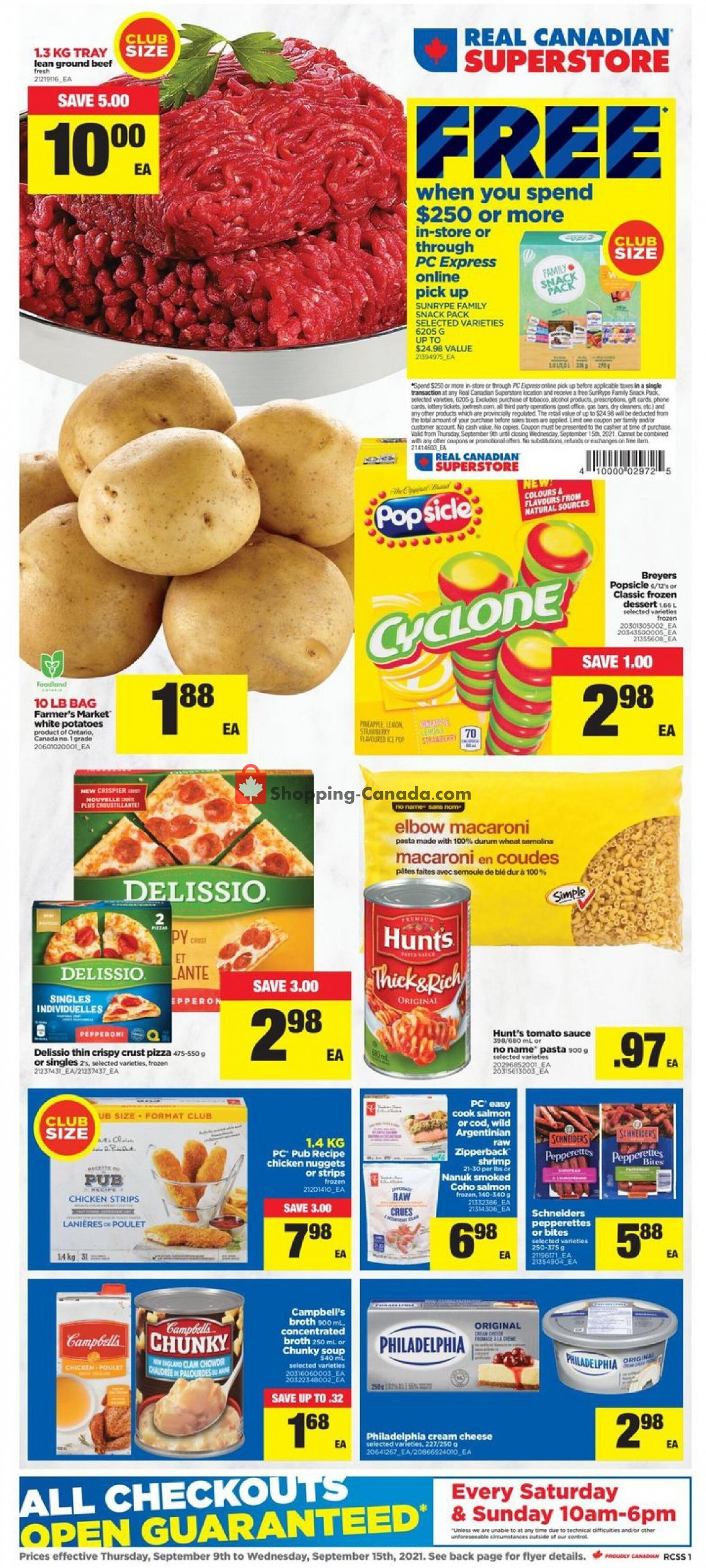 Flyer Real Canadian Superstore Canada - from Thursday September 9, 2021 to Wednesday September 15, 2021