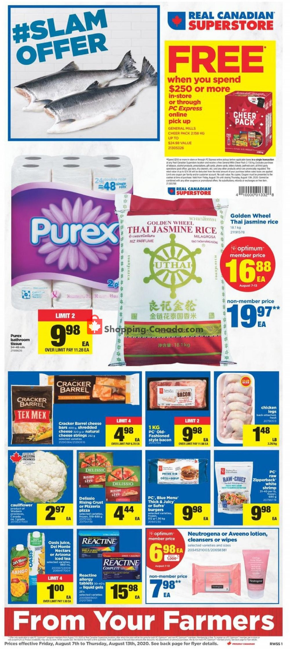 Flyer Real Canadian Superstore Canada - from Friday August 7, 2020 to Thursday August 13, 2020