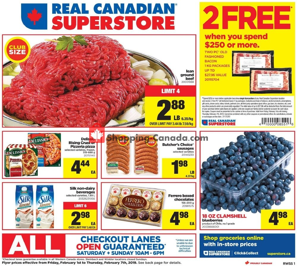Flyer Real Canadian Superstore Canada - from Friday February 1, 2019 to Thursday February 7, 2019