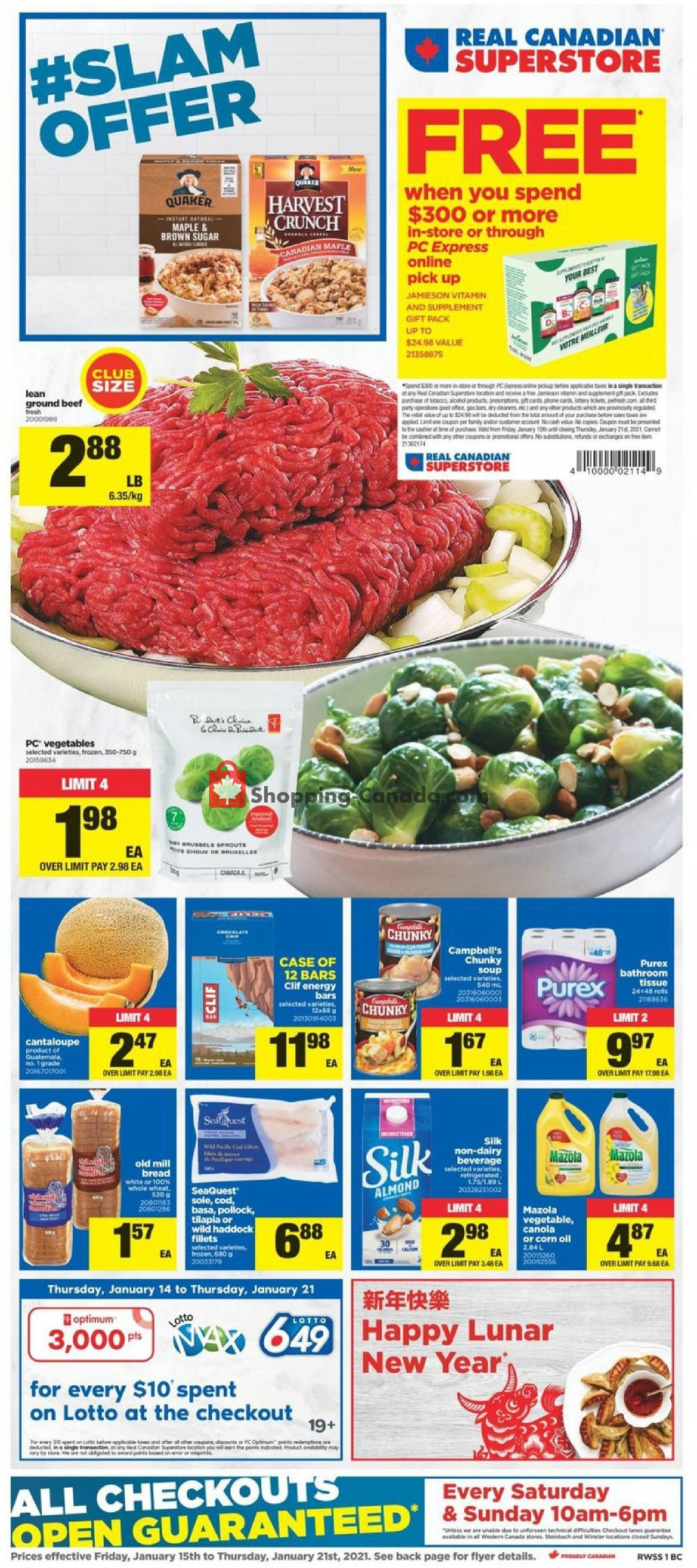 Flyer Real Canadian Superstore Canada - from Friday January 15, 2021 to Thursday January 21, 2021