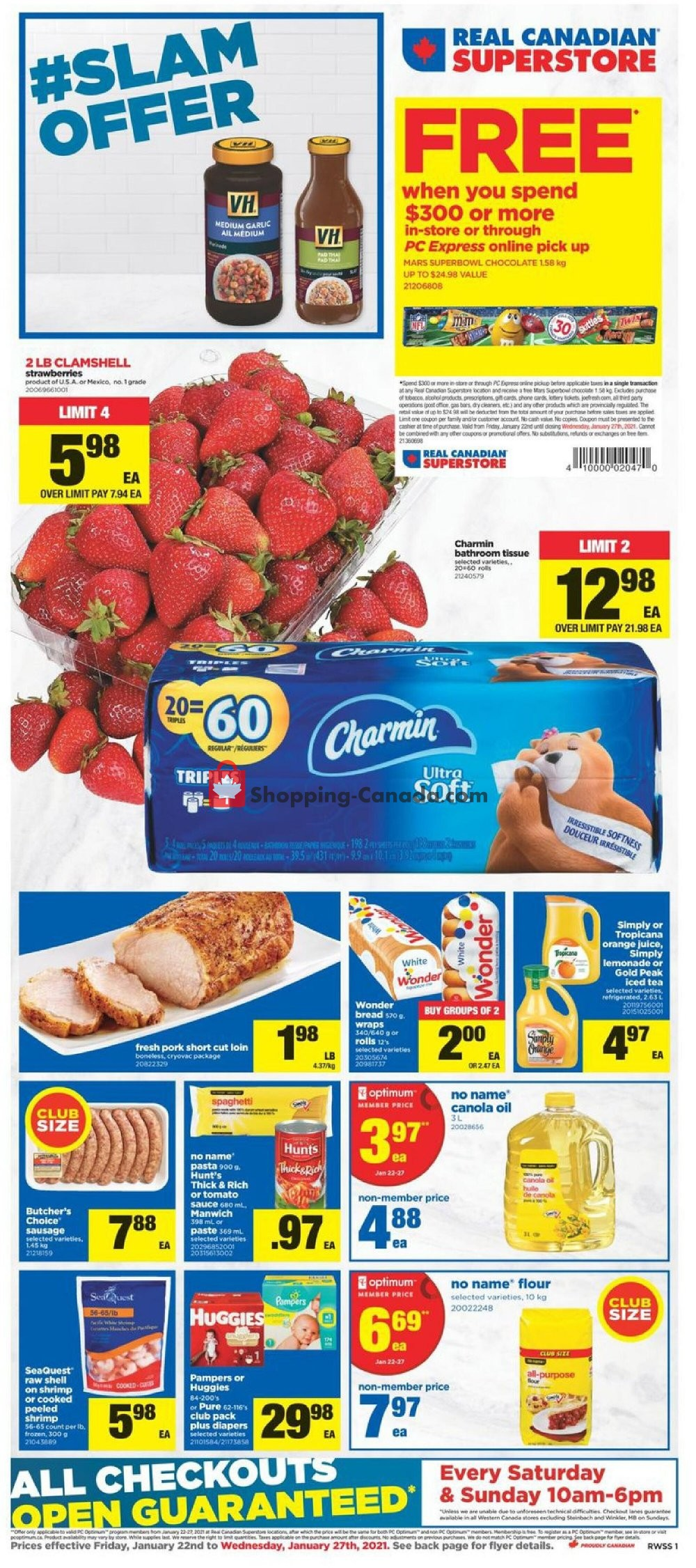 Flyer Real Canadian Superstore Canada - from Friday January 22, 2021 to Wednesday January 27, 2021