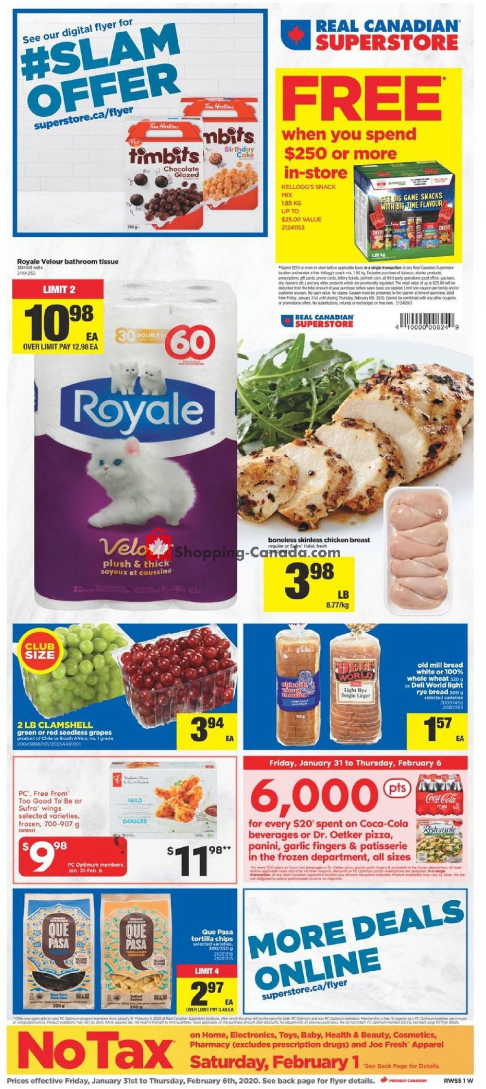 Flyer Real Canadian Superstore Canada - from Friday January 31, 2020 to Thursday February 6, 2020