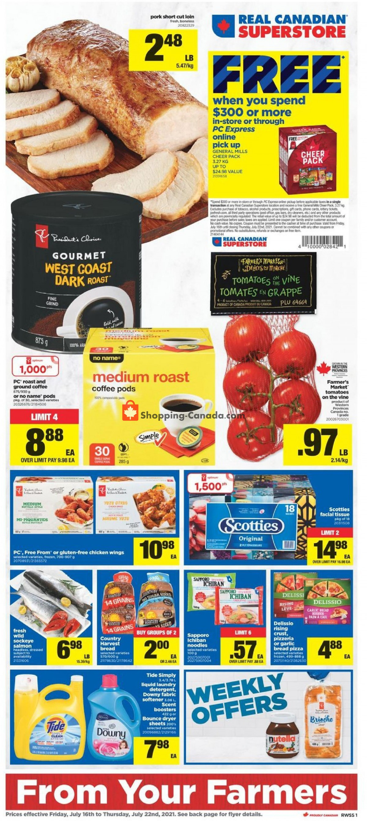 Flyer Real Canadian Superstore Canada - from Friday July 16, 2021 to Thursday July 22, 2021