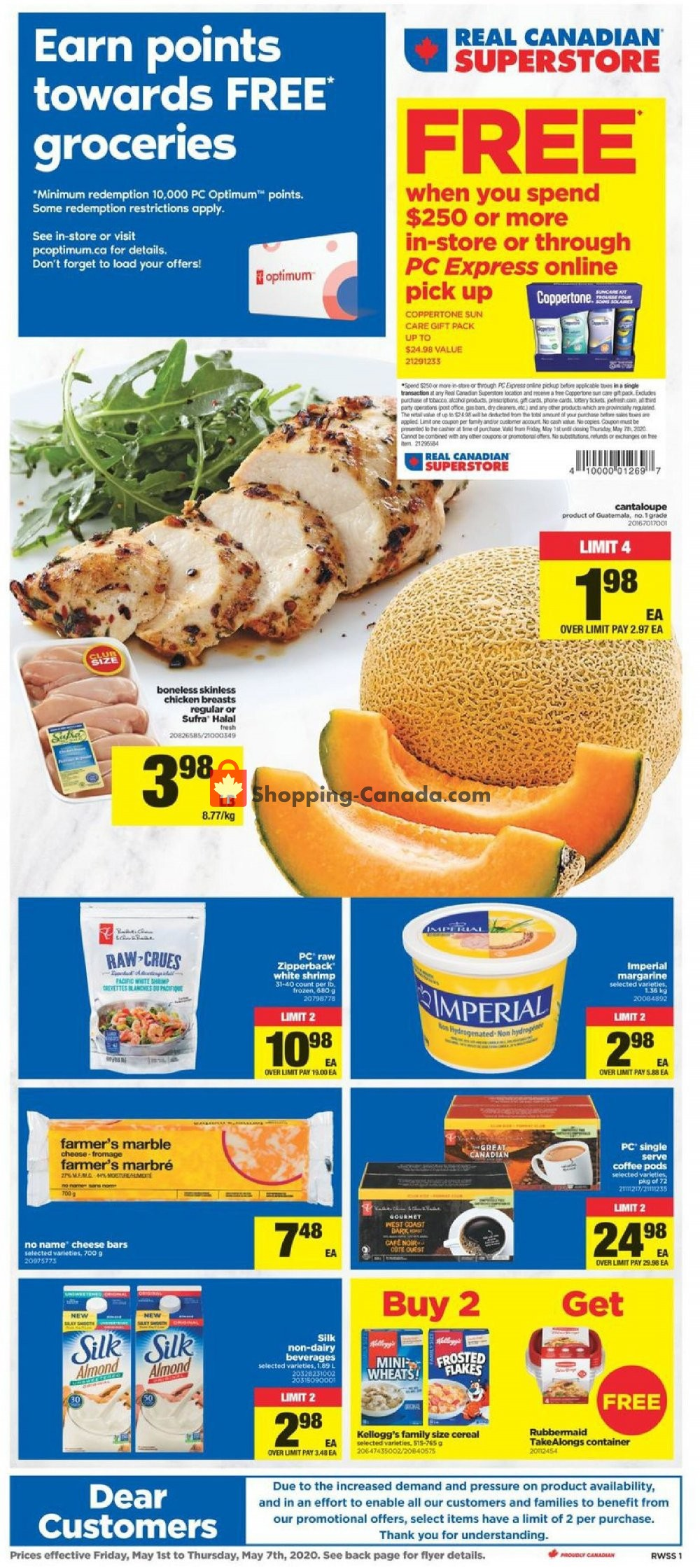 Flyer Real Canadian Superstore Canada - from Friday May 1, 2020 to Thursday May 7, 2020