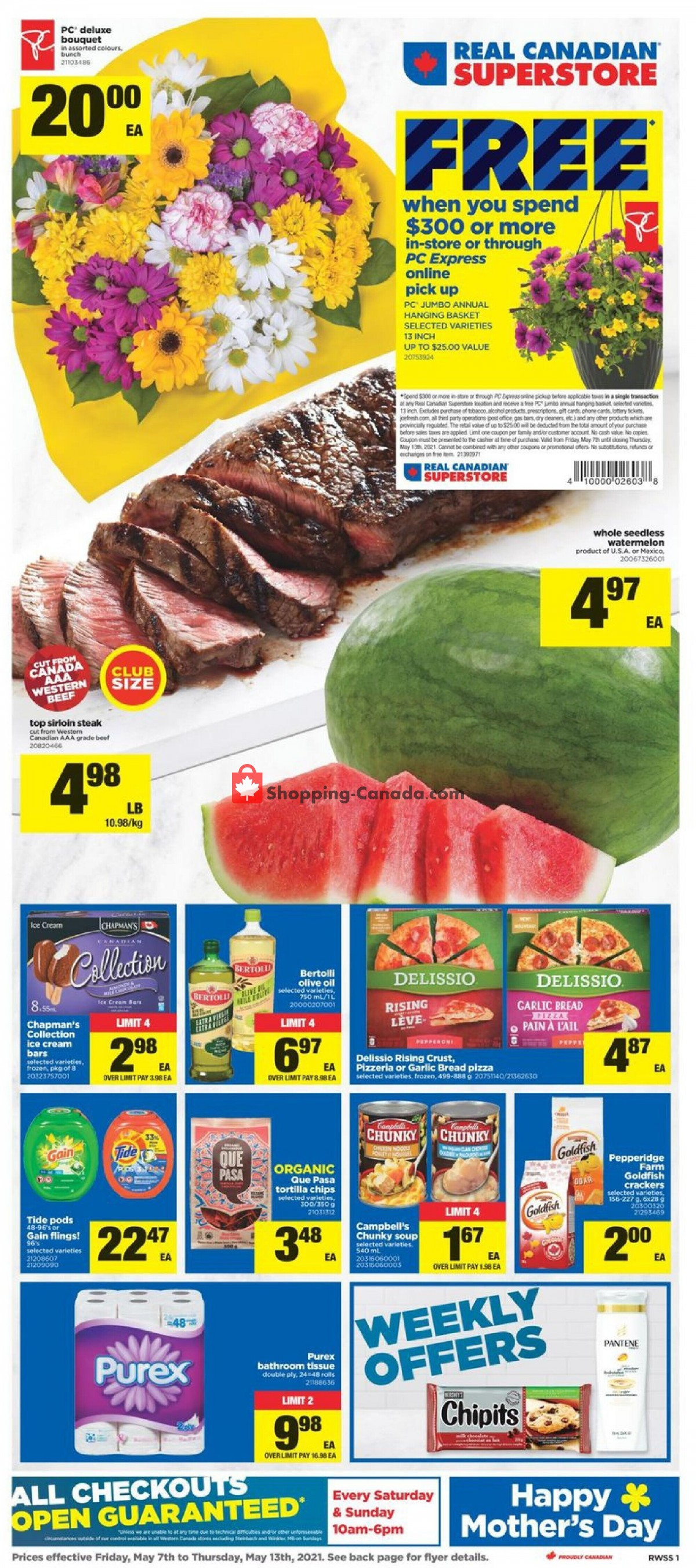 Flyer Real Canadian Superstore Canada - from Friday May 7, 2021 to Thursday May 13, 2021