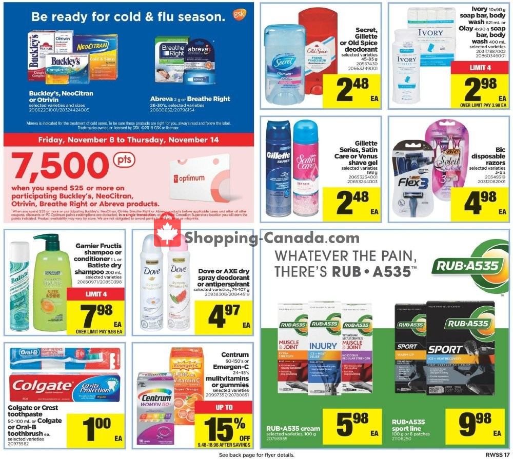Flyer Real Canadian Superstore Canada - from Friday November 8, 2019 to Thursday November 14, 2019