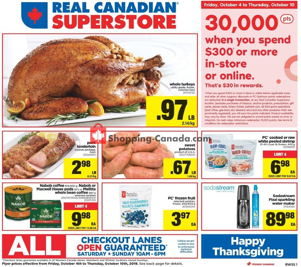 Flyer Real Canadian Superstore Canada - from Friday October 4, 2019 to Thursday October 10, 2019