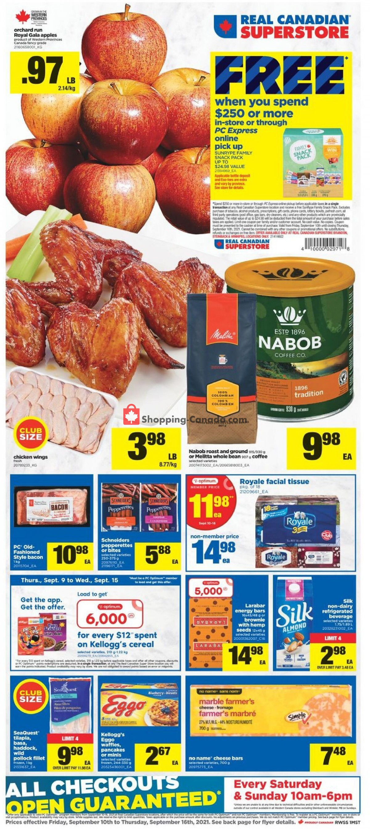 Flyer Real Canadian Superstore Canada - from Friday September 10, 2021 to Thursday September 16, 2021
