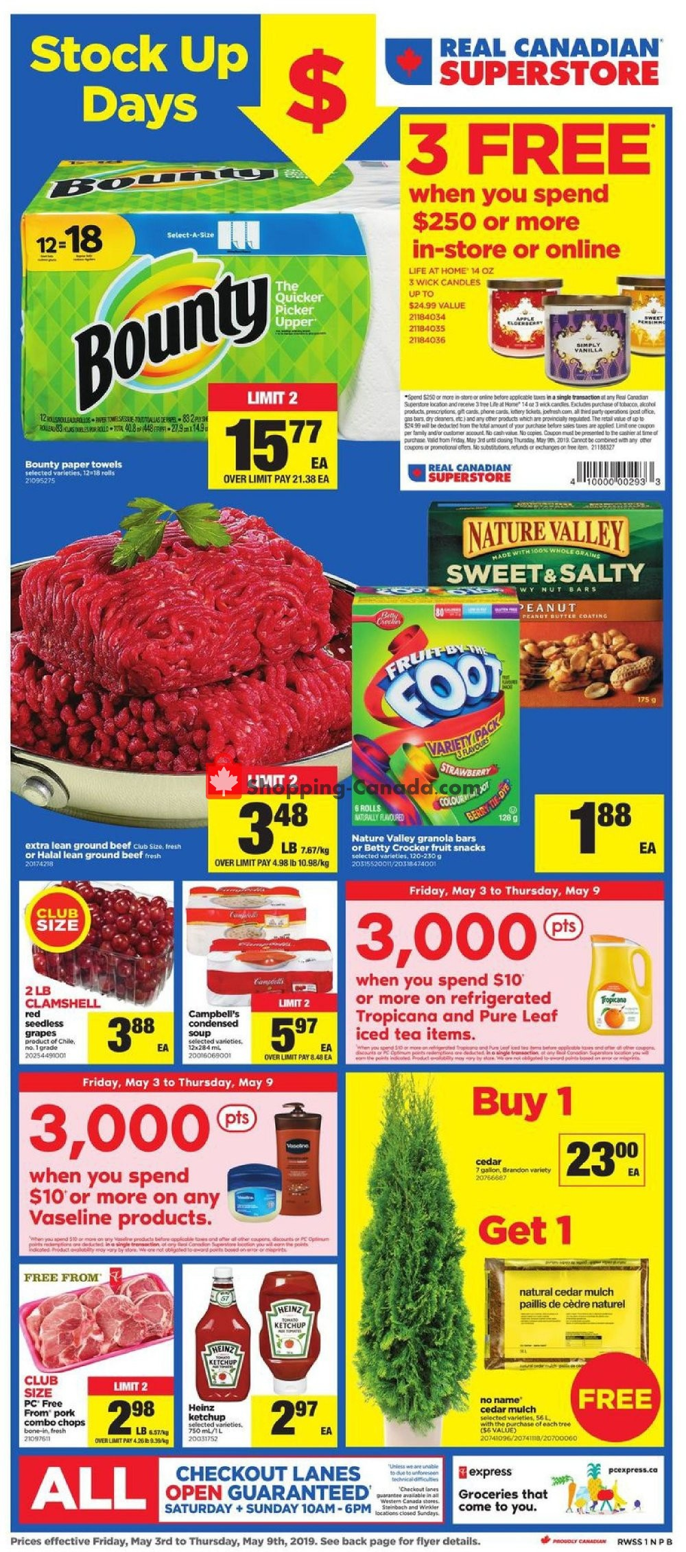 Flyer Real Canadian Superstore Canada - from Friday May 3, 2019 to Thursday May 9, 2019
