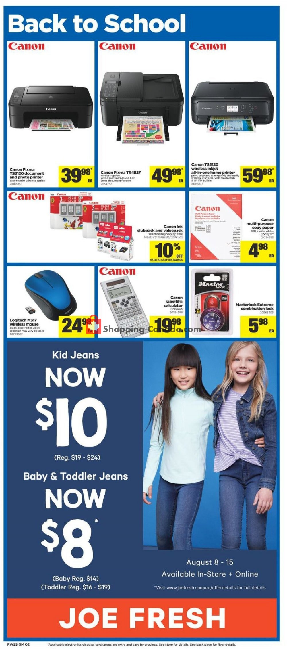 Flyer Real Canadian Superstore Canada - from Friday August 9, 2019 to Thursday August 15, 2019
