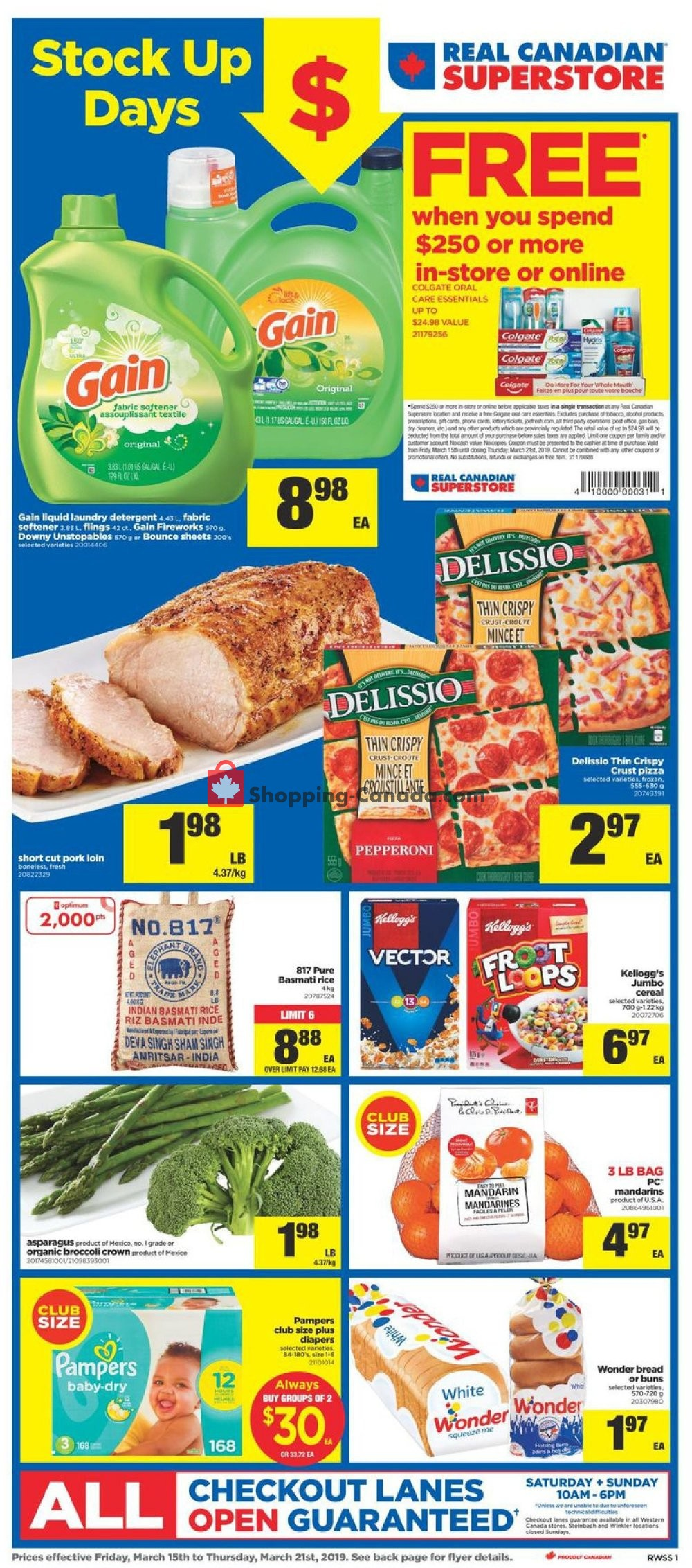 Flyer Real Canadian Superstore Canada - from Friday March 15, 2019 to Thursday March 21, 2019