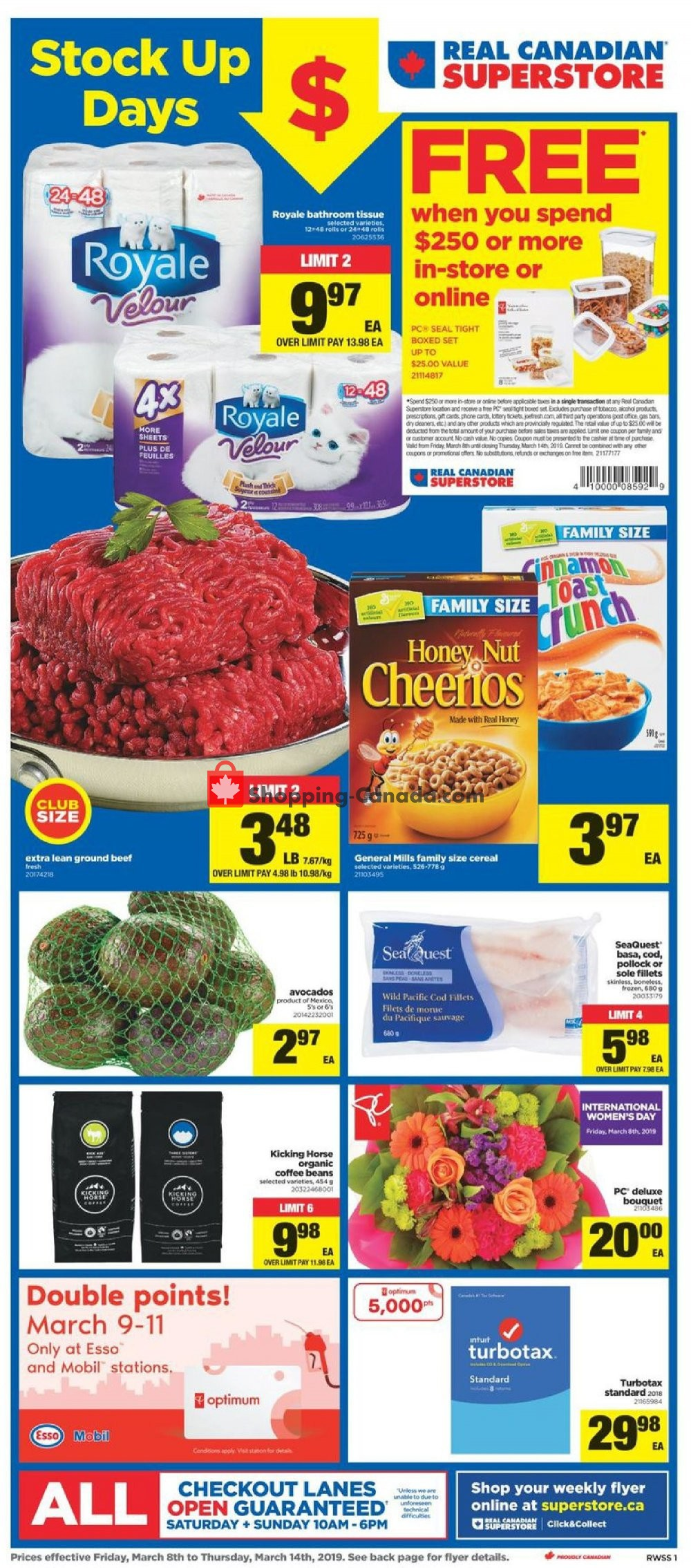 Flyer Real Canadian Superstore Canada - from Friday March 8, 2019 to Thursday March 14, 2019