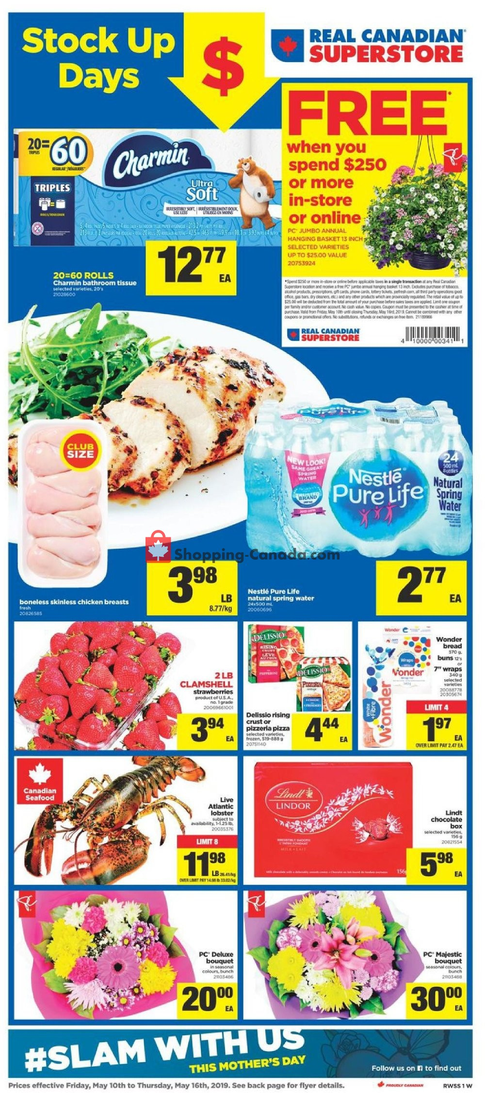 Flyer Real Canadian Superstore Canada - from Friday May 10, 2019 to Thursday May 16, 2019