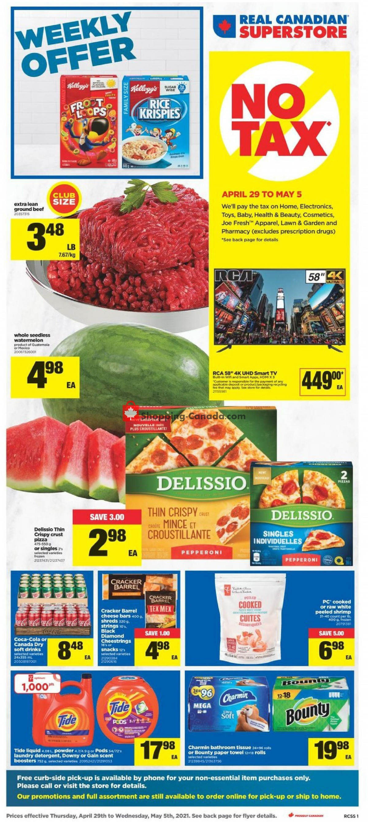 Flyer Real Canadian Superstore Canada - from Thursday April 29, 2021 to Wednesday May 5, 2021