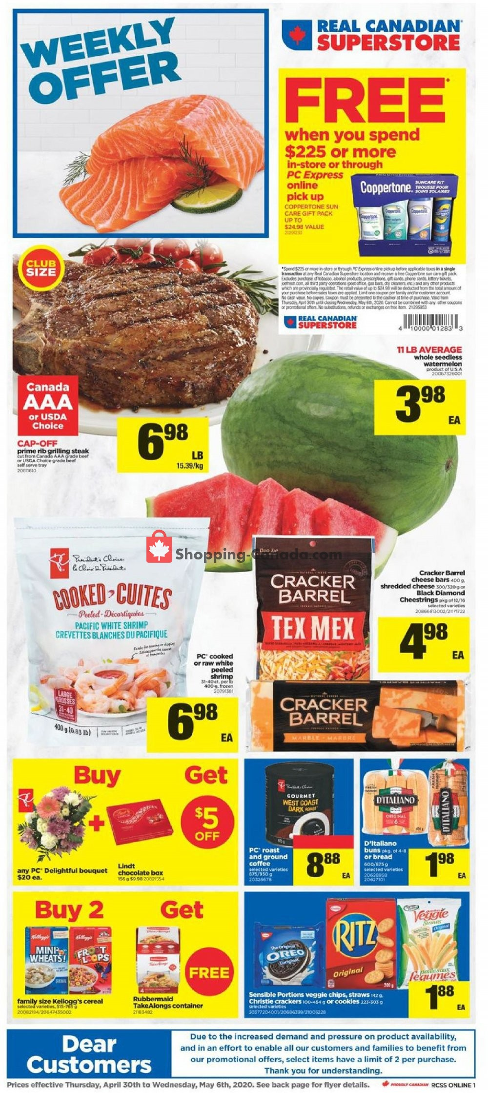 Flyer Real Canadian Superstore Canada - from Thursday April 30, 2020 to Wednesday May 6, 2020