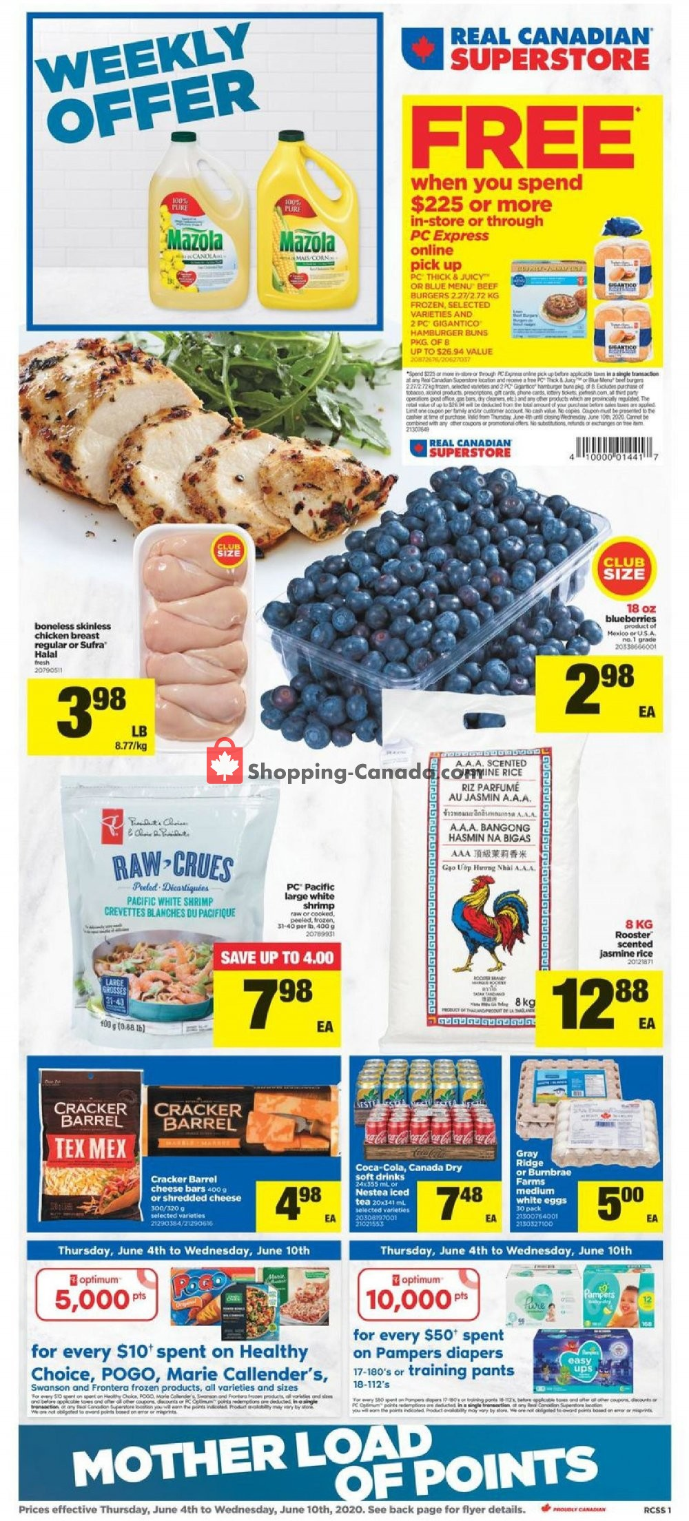 Flyer Real Canadian Superstore Canada - from Thursday June 4, 2020 to Wednesday June 10, 2020