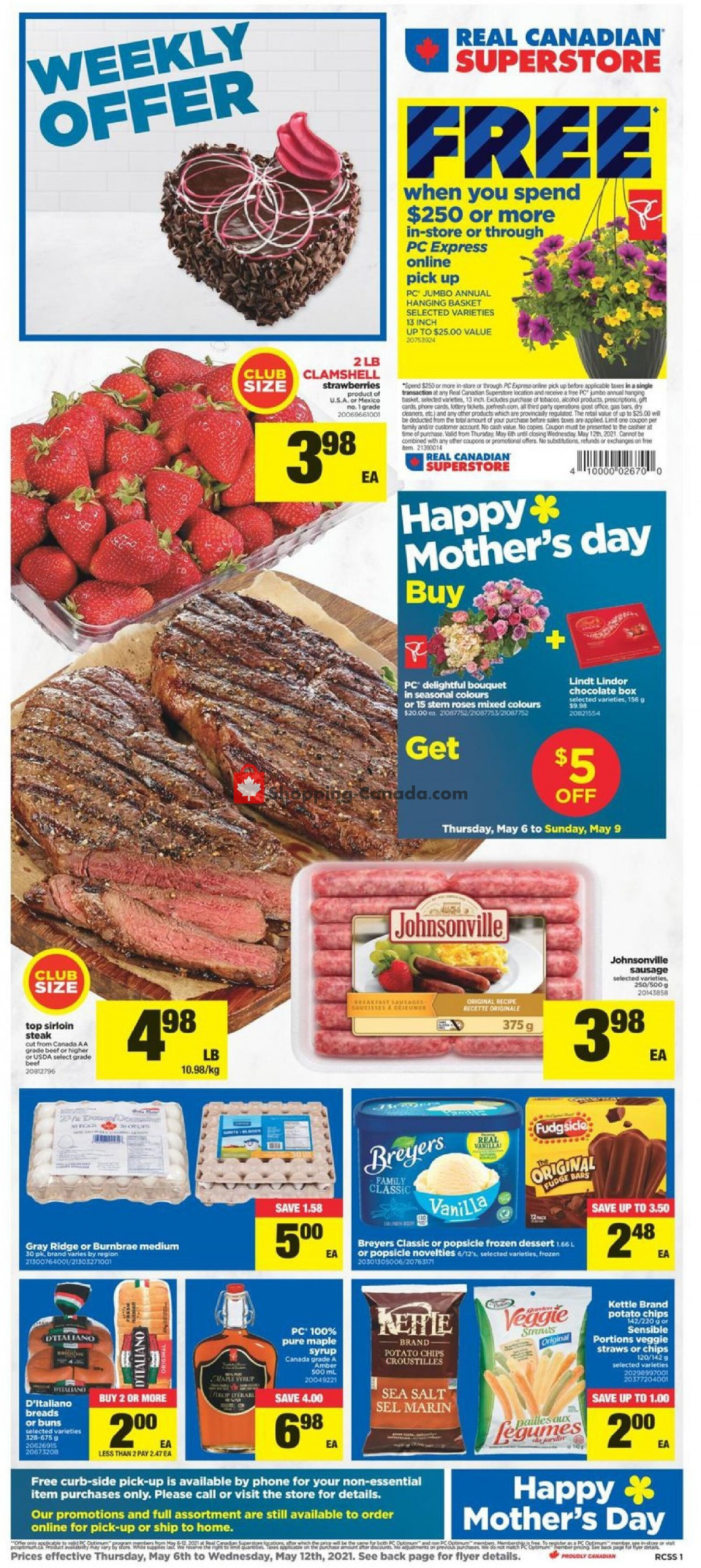 Flyer Real Canadian Superstore Canada - from Thursday May 6, 2021 to Wednesday May 12, 2021