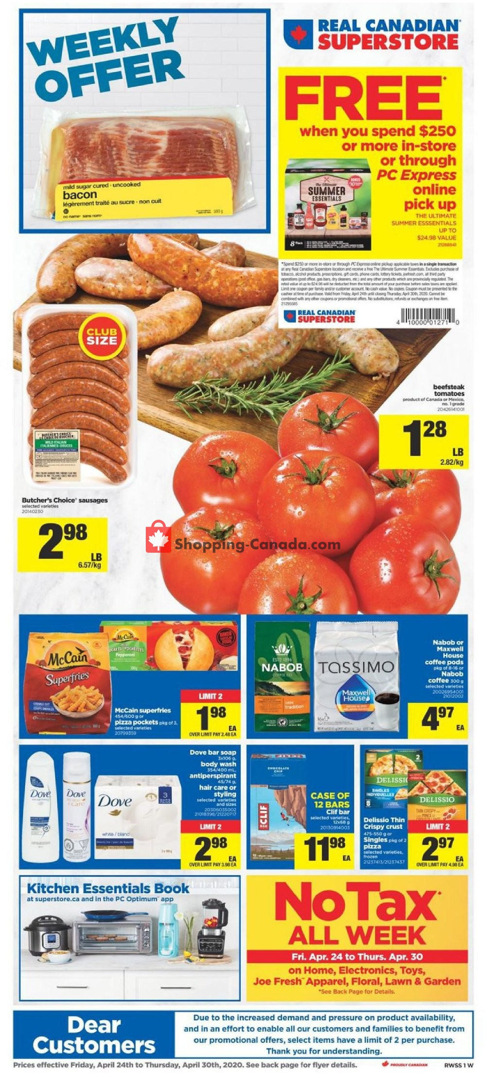 Flyer Real Canadian Superstore Canada - from Friday April 24, 2020 to Thursday April 30, 2020