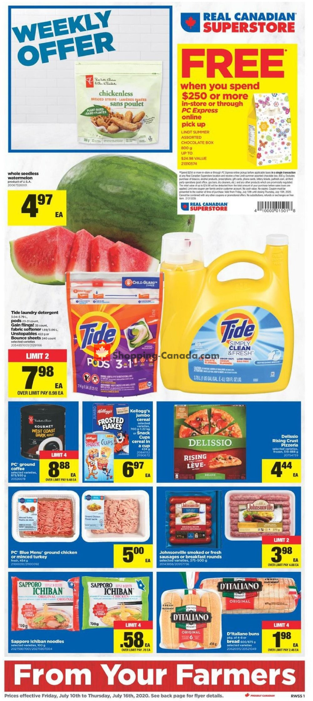 Flyer Real Canadian Superstore Canada - from Friday July 10, 2020 to Thursday July 16, 2020