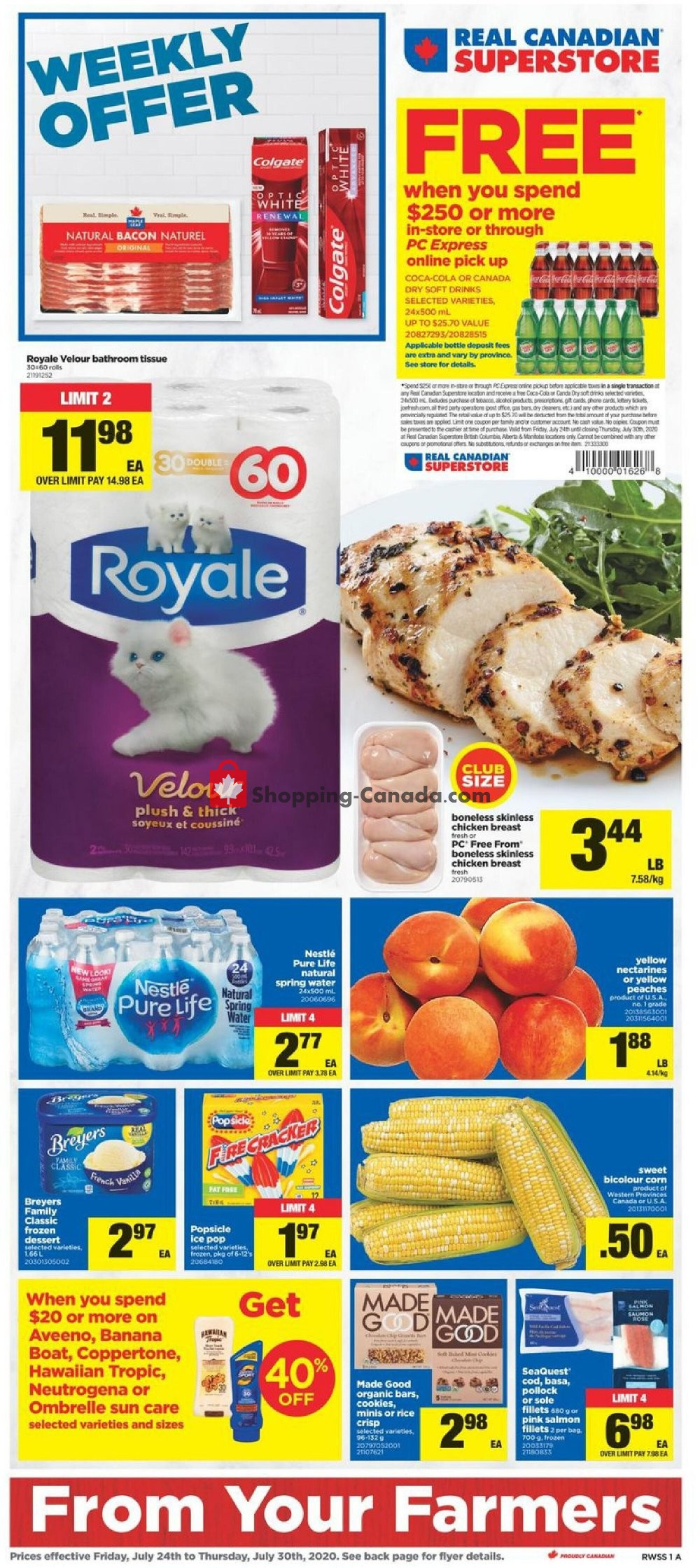 Flyer Real Canadian Superstore Canada - from Friday July 24, 2020 to Thursday July 30, 2020