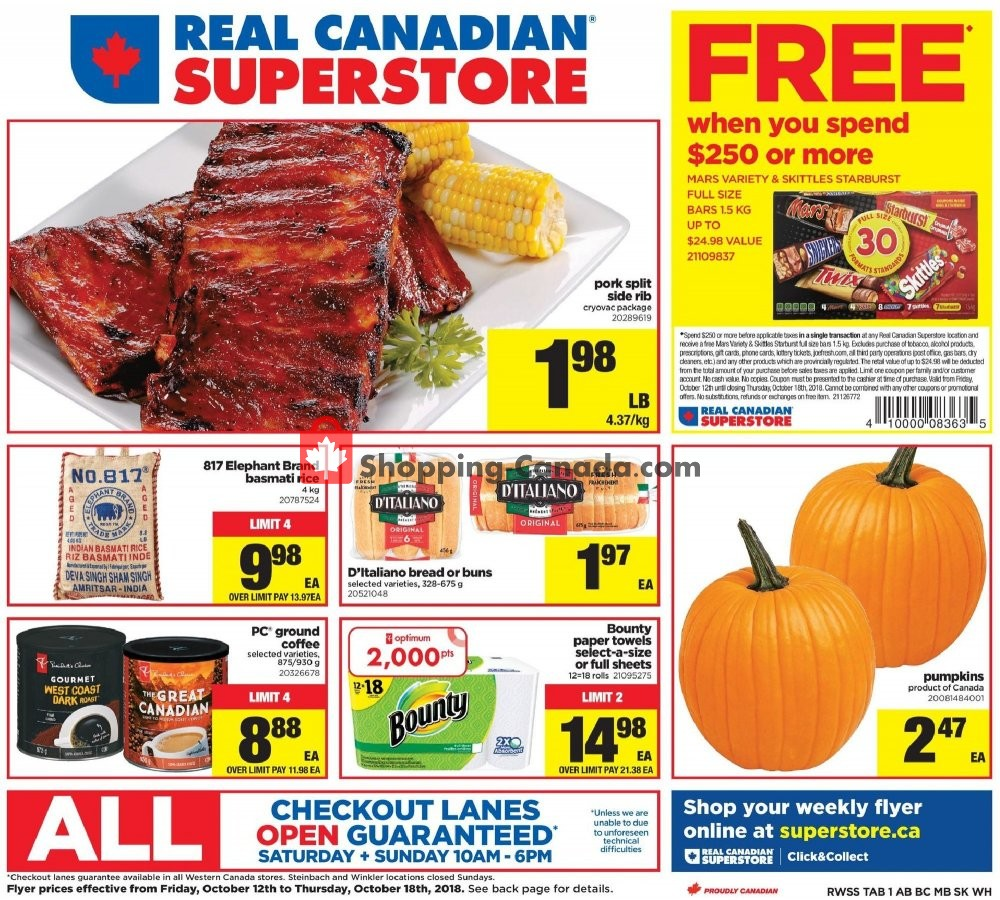 Flyer Real Canadian Superstore Canada - from Friday October 12, 2018 to Thursday October 18, 2018
