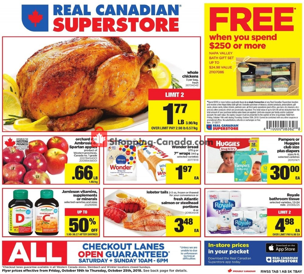 Flyer Real Canadian Superstore Canada - from Friday October 19, 2018 to Thursday October 25, 2018