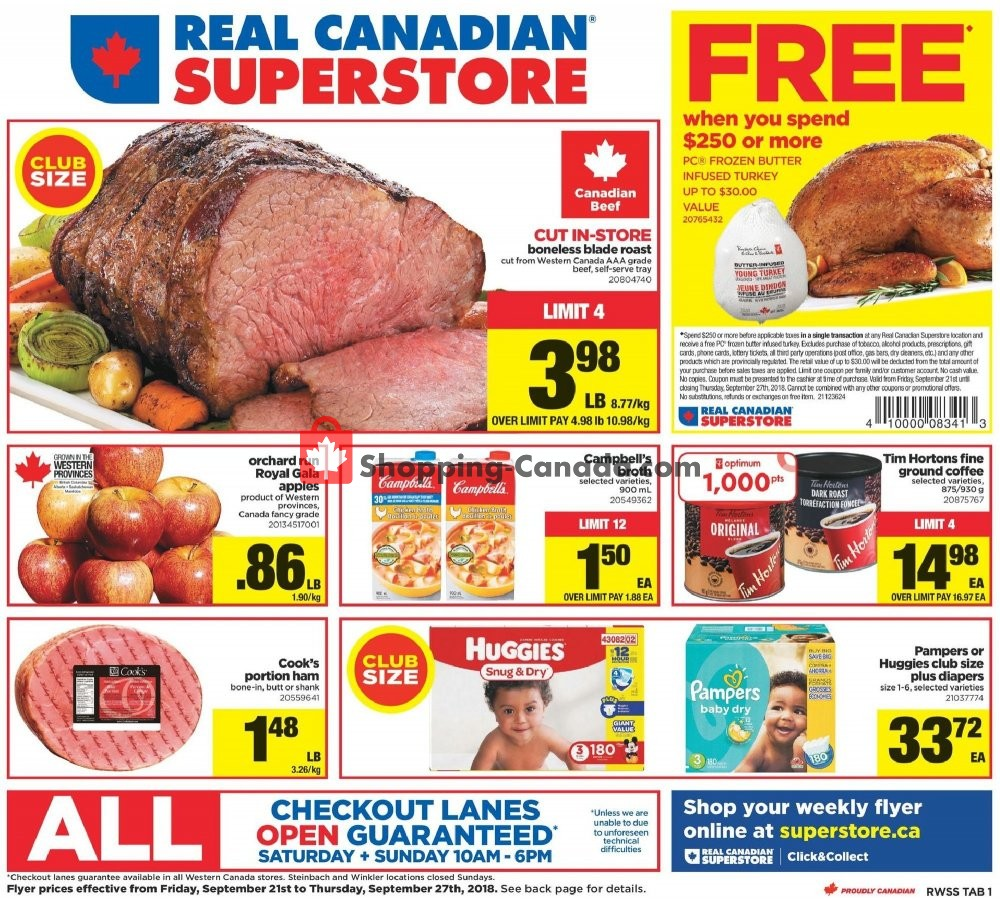 Flyer Real Canadian Superstore Canada - from Friday September 21, 2018 to Thursday September 27, 2018