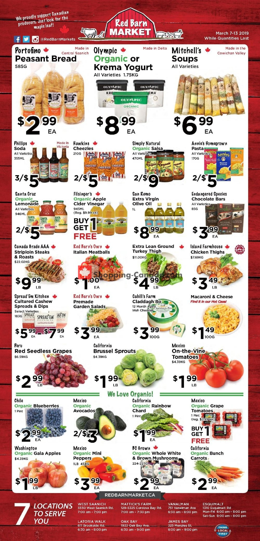 Flyer Red Barn Market Canada - from Thursday March 7, 2019 to Wednesday March 13, 2019