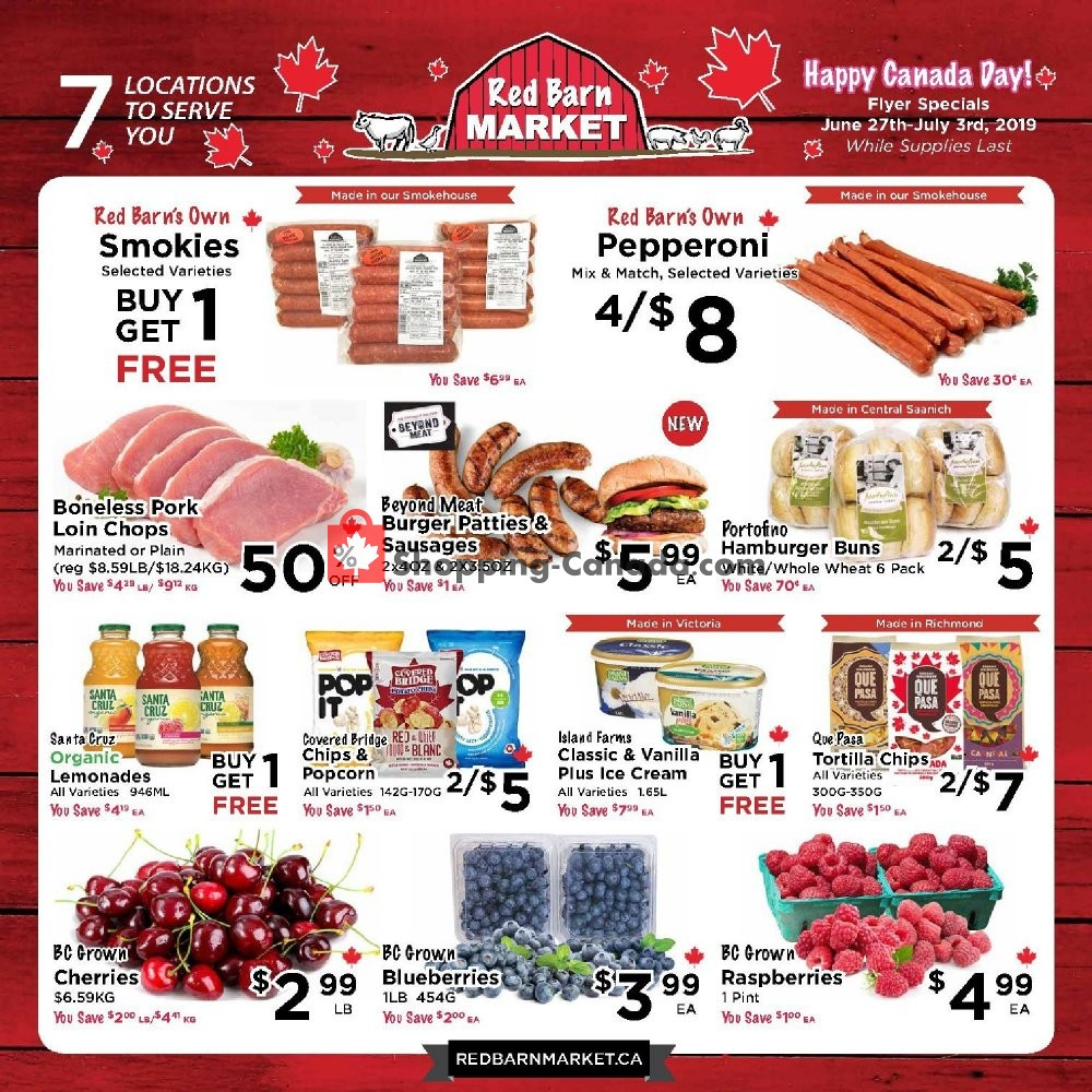 Flyer Red Barn Market Canada - from Thursday June 27, 2019 to Wednesday July 3, 2019