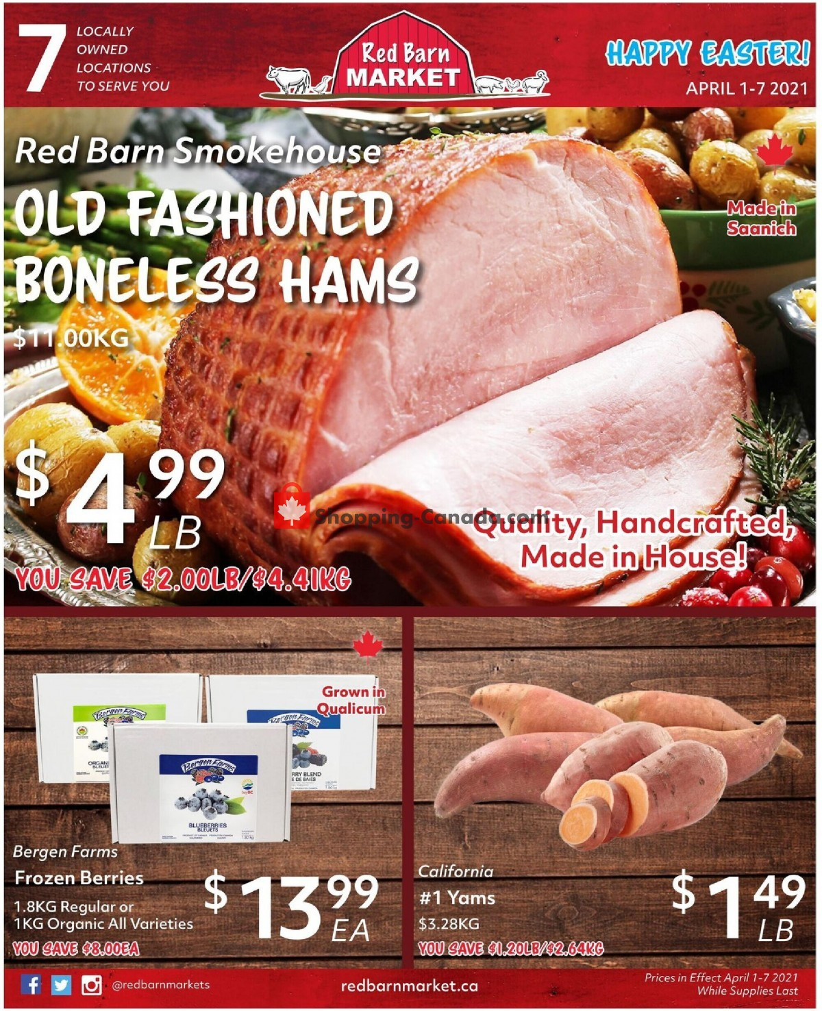 Flyer Red Barn Market Canada - from Thursday April 1, 2021 to Wednesday April 7, 2021