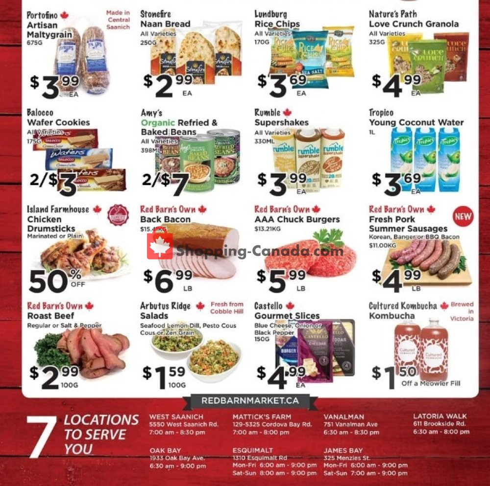 Flyer Red Barn Market Canada - from Thursday August 8, 2019 to Wednesday August 14, 2019