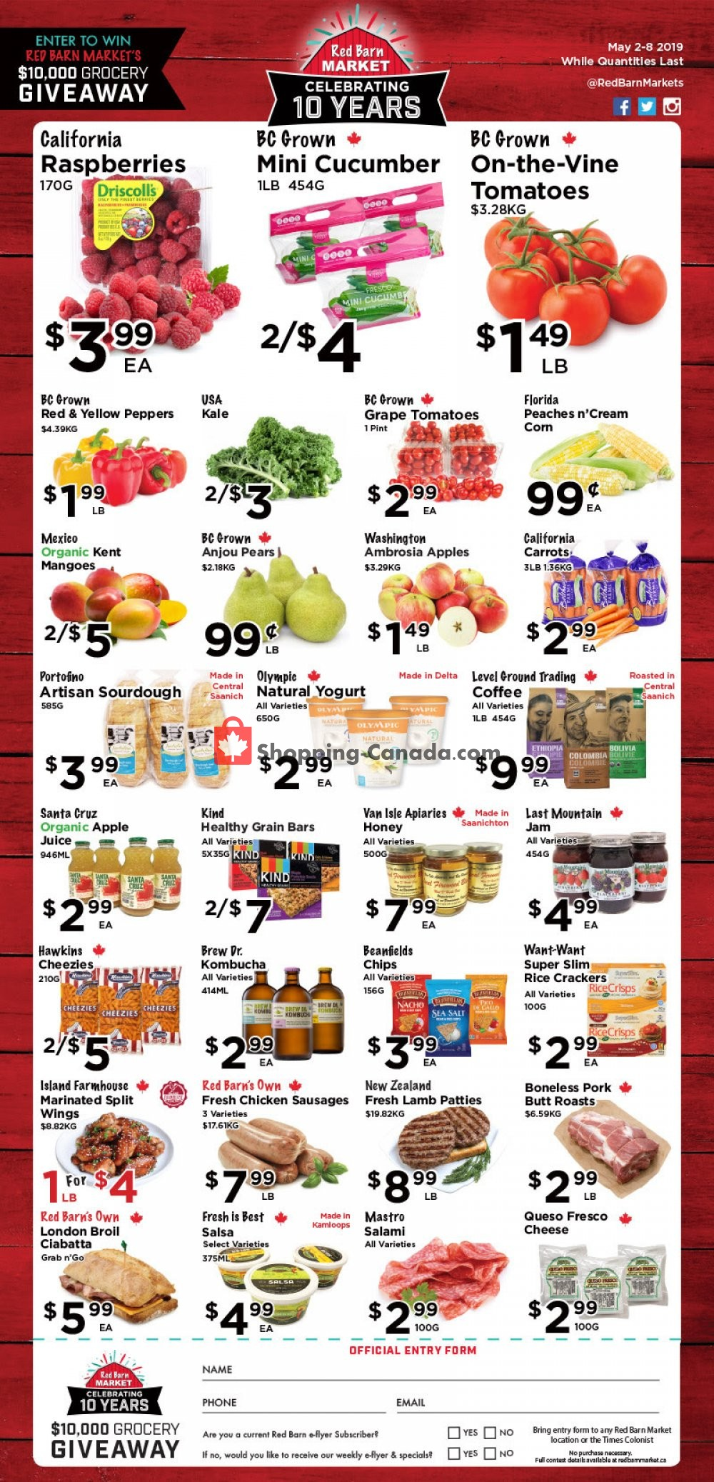 Flyer Red Barn Market Canada - from Thursday May 2, 2019 to Wednesday May 8, 2019
